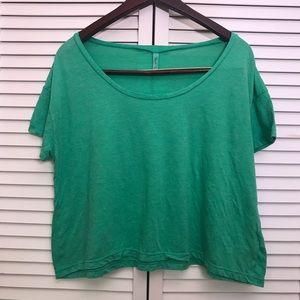 Frenchi green crop-top, size S/M